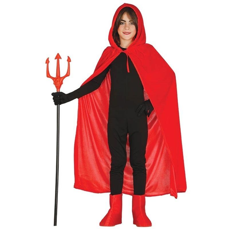 Halloween - Rode Halloween verkleedcape met capuchon voor kinderen
