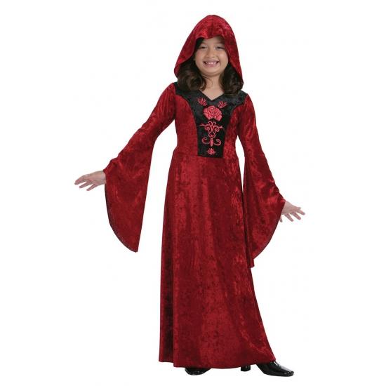Halloween - Rode meisjes vampieren jurk halloween kostuum verkleed kleding