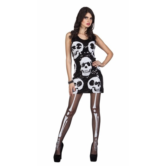 Halloween schedel jurkje met pailletten