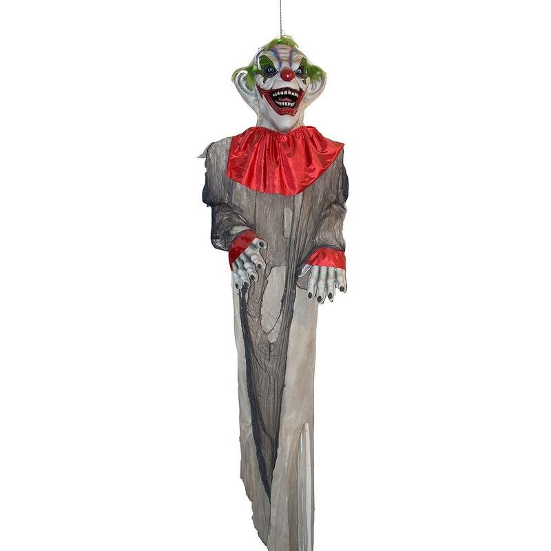 Halloween versiering hangdecoratie horror clown pop 360 cm