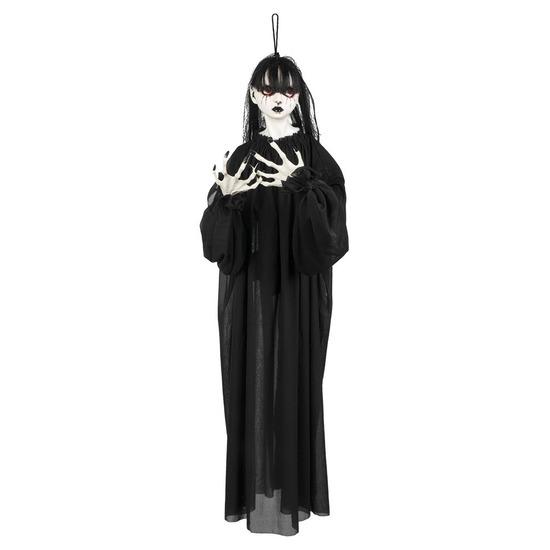 Halloween versiering horror meisje pop 85 cm
