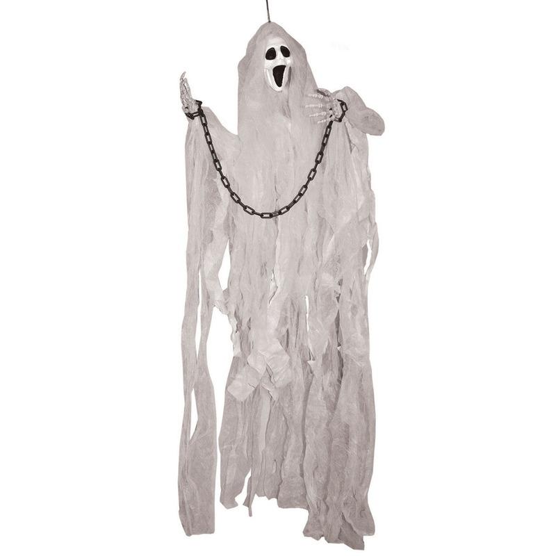 Halloween versiering spook pop met licht 120 cm