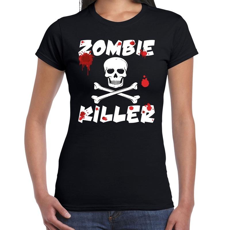 Halloween - Zombie killer Halloween t-shirt zwart dames