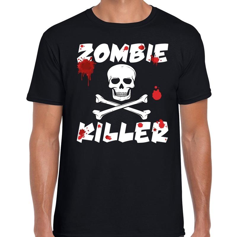 Halloween - Zombie killer Halloween t-shirt zwart heren