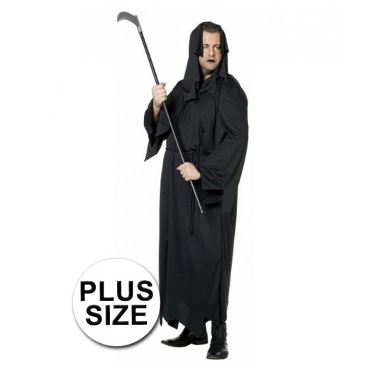 Halloween - Zwarte dood horror / halloween kostuum grote maat