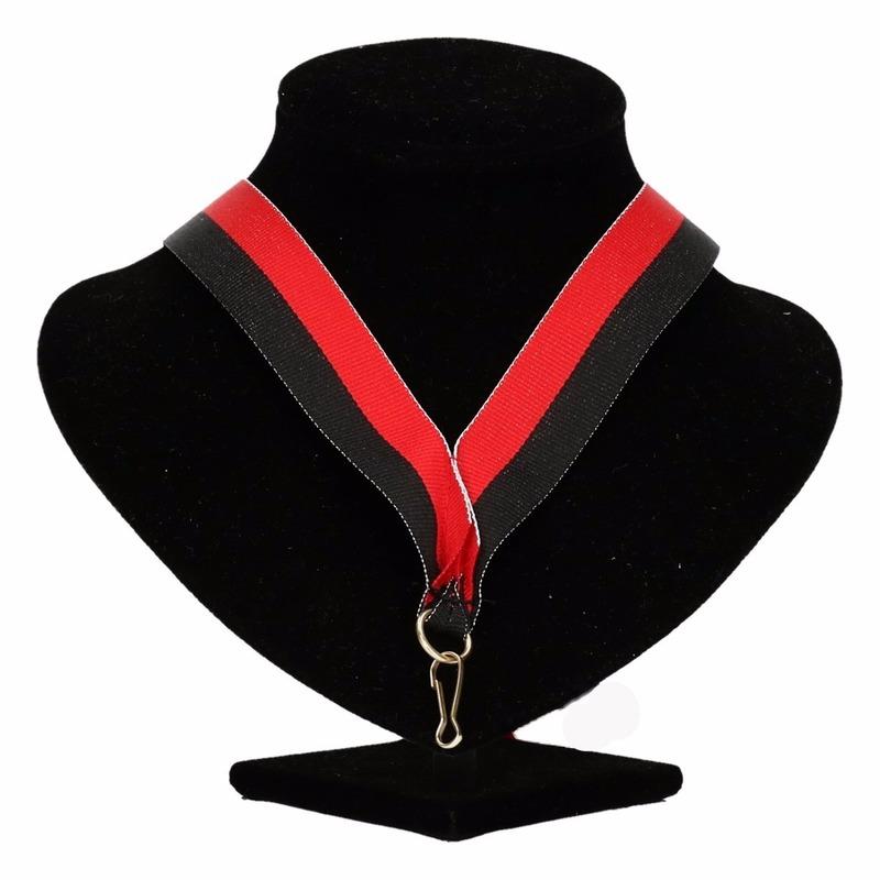 Halslint zwart/rood