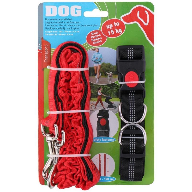 Handsfree hondenriem met heupband 190 cm