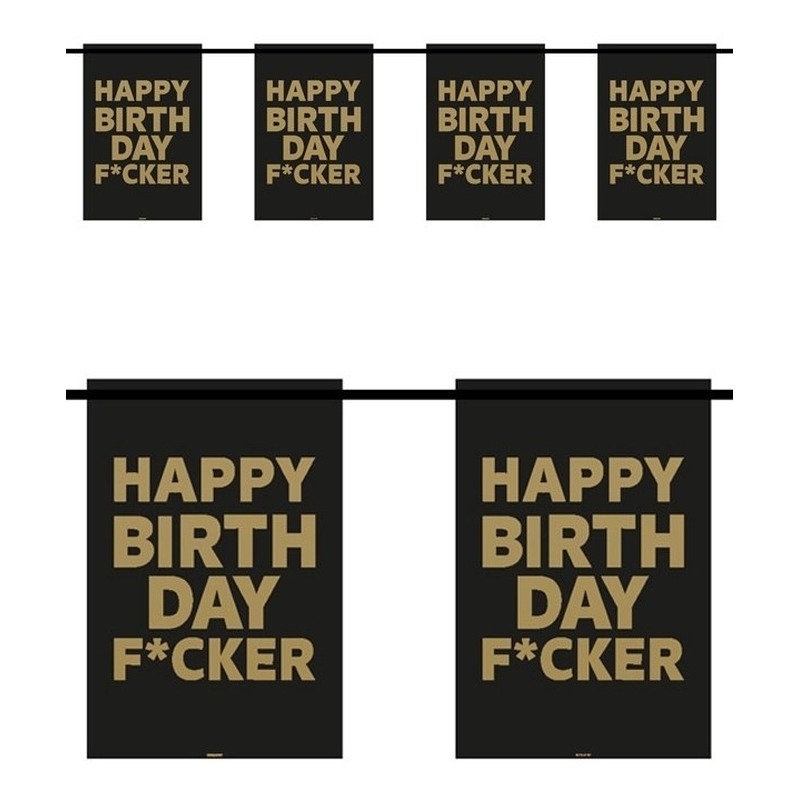 Happy Birthday F*cker vlaggenlijn 6 m
