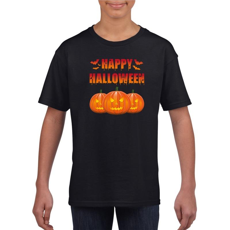 Happy Halloween t-shirt zwart kinderen