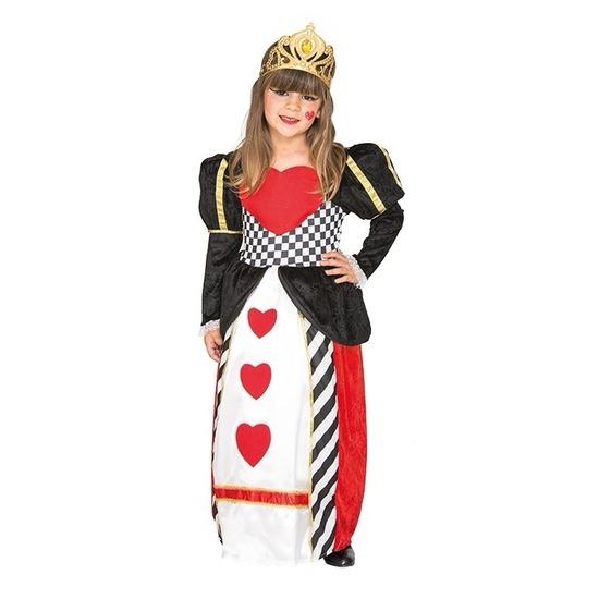 Hartenkoningin jurk voor meisjes