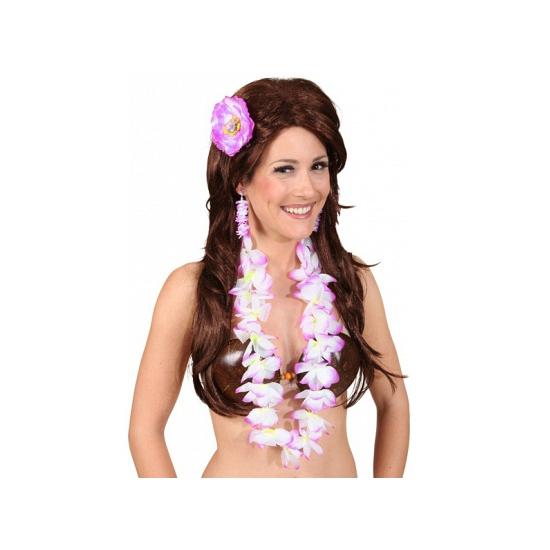 Hawaii accessoire set paars