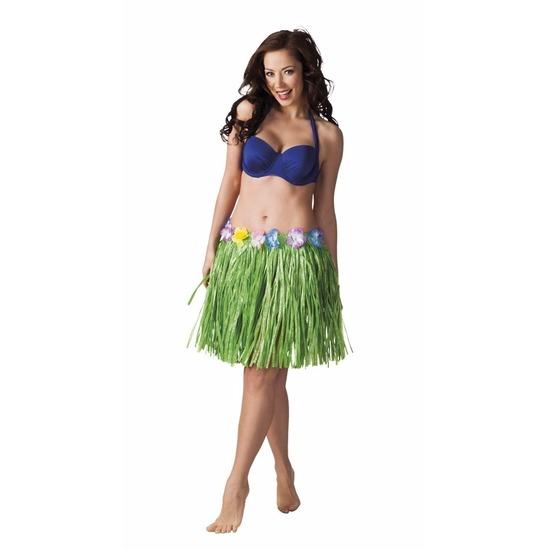Hawaii rokje groen 45 cm voor dames