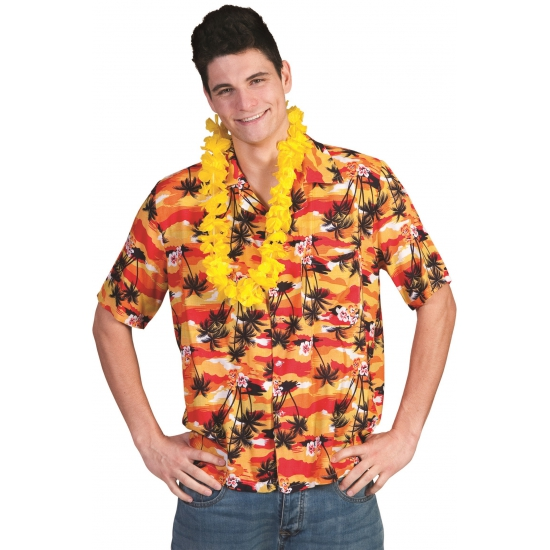 Hawaii shirt rood/oranje