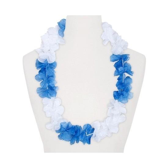 Hawaii slinger wit/blauw