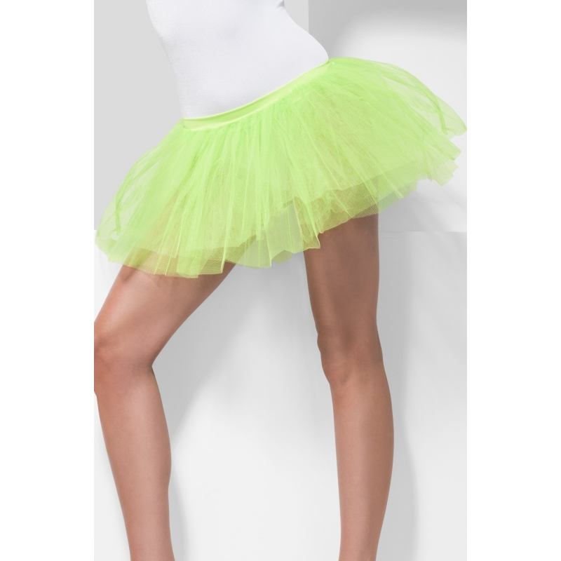 Heksen verkleedaccessoire tutu rok neon groen voor dames