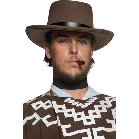 Heren cowboy verkleed hoed bruin