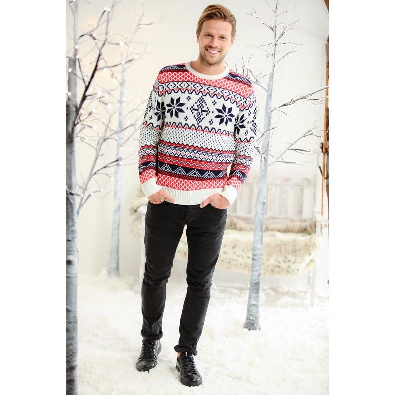 Heren kersttrui met Noorse print XL (44/54) Multi