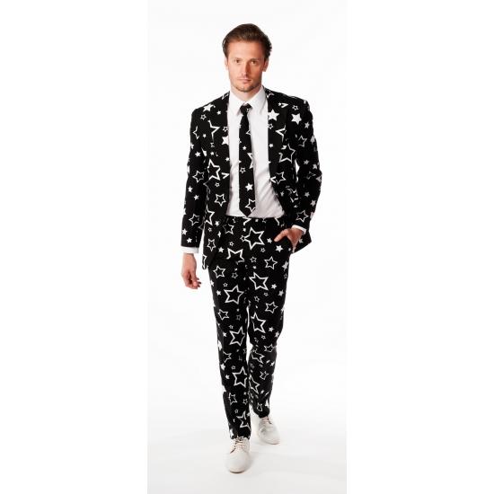 Heren kostuum met sterren print