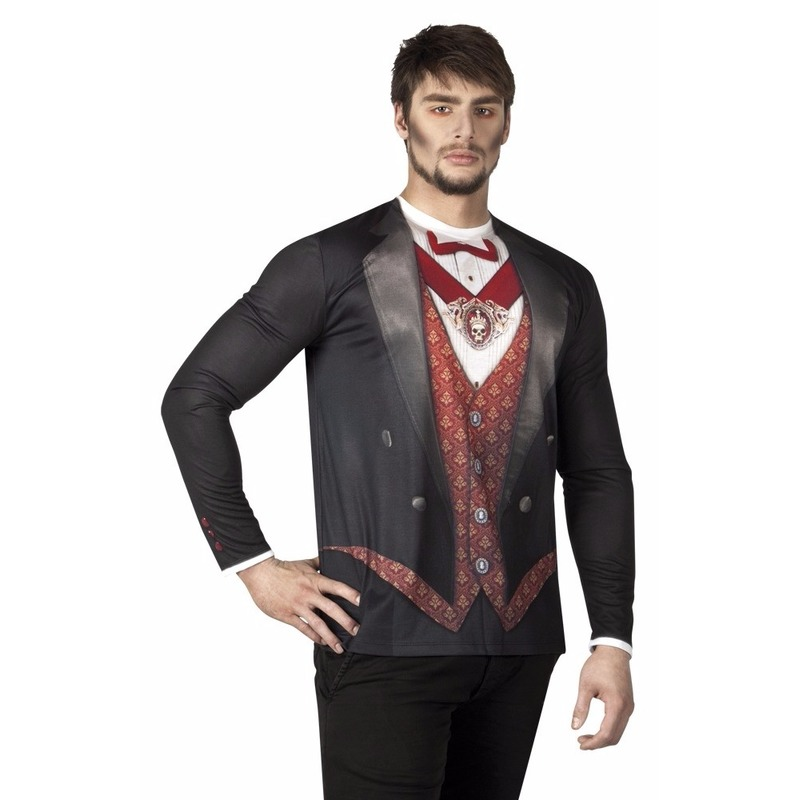 Heren shirt met vampier opdruk