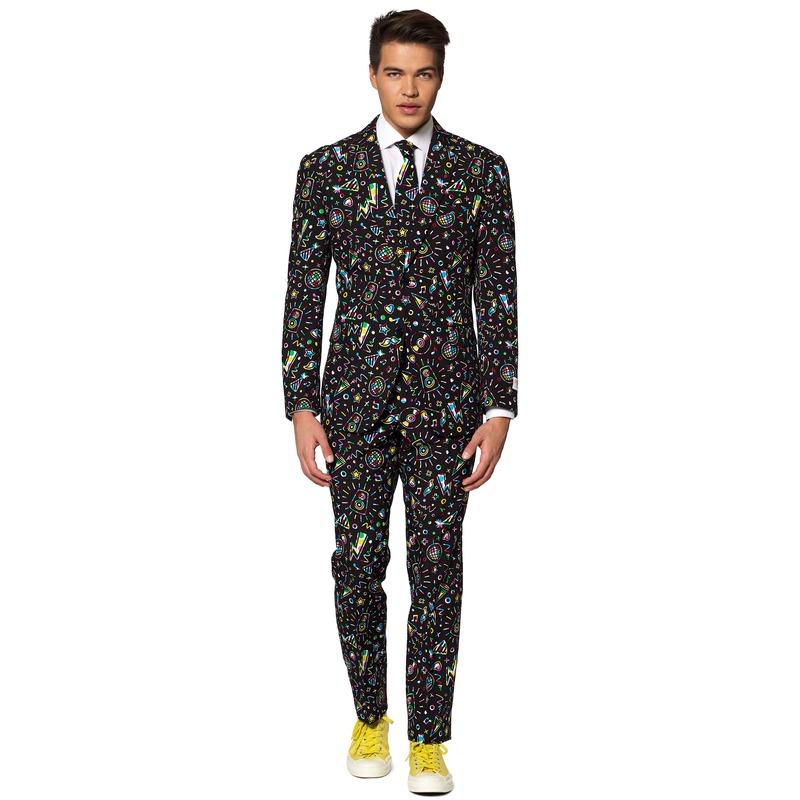 Heren verkleed pak/kostuum disco print