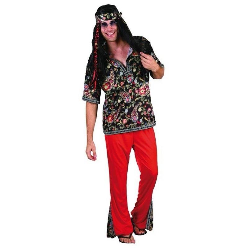 Heren verkleedkleding hippie
