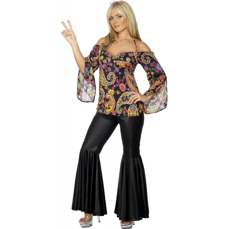 Hippie dames kostuum twee delig