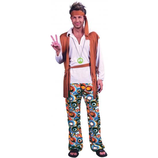 Hippie peace kostuum voor heren