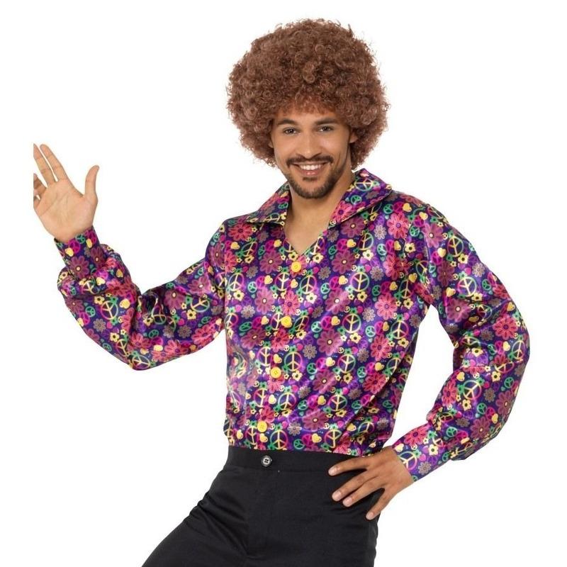 Hippie peace overhemd voor heren