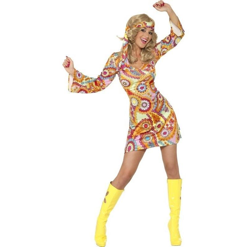 Hippie Sixties verkleed jurkje voor dames