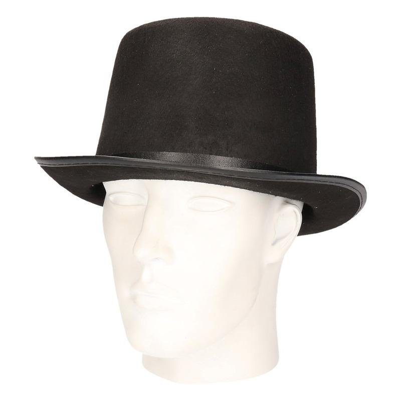 Hoge hoed zwart voor volwassenen Zwart