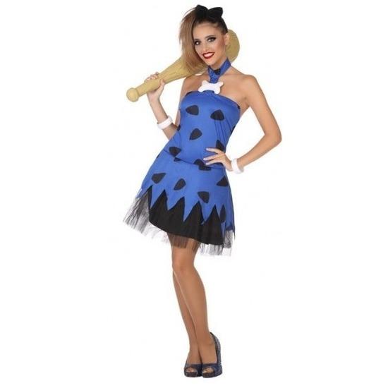 Holbewoonster/cavewoman Betty verkleed kostuum/jurk voor dames