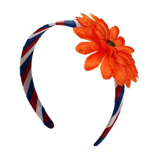 Holland diadeem met oranje bloem