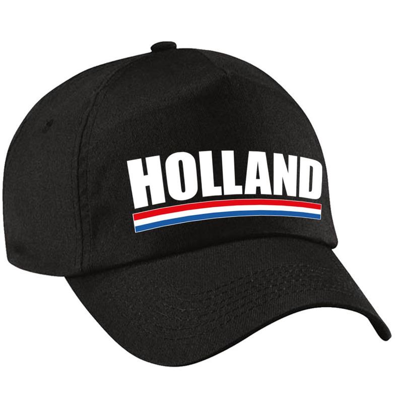 Holland supporter pet - cap Nederland zwart kinderen