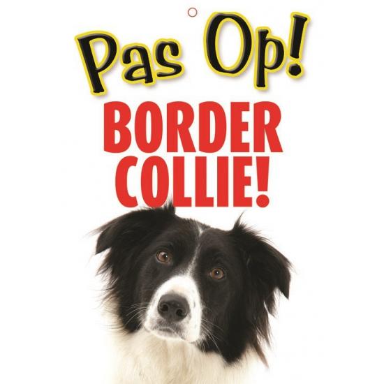 Honden waakbord pas op Border Collie 21 x 15 cm