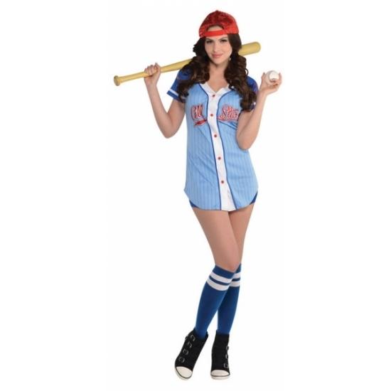 Honkbalspeler kostuum voor dames
