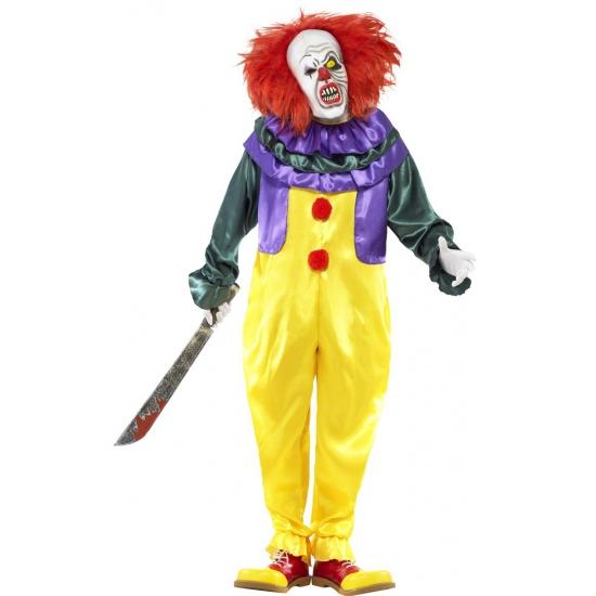 Horror clown kostuum met masker