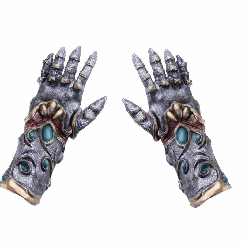 Horror handschoenen metaal/alien voor volwassenen