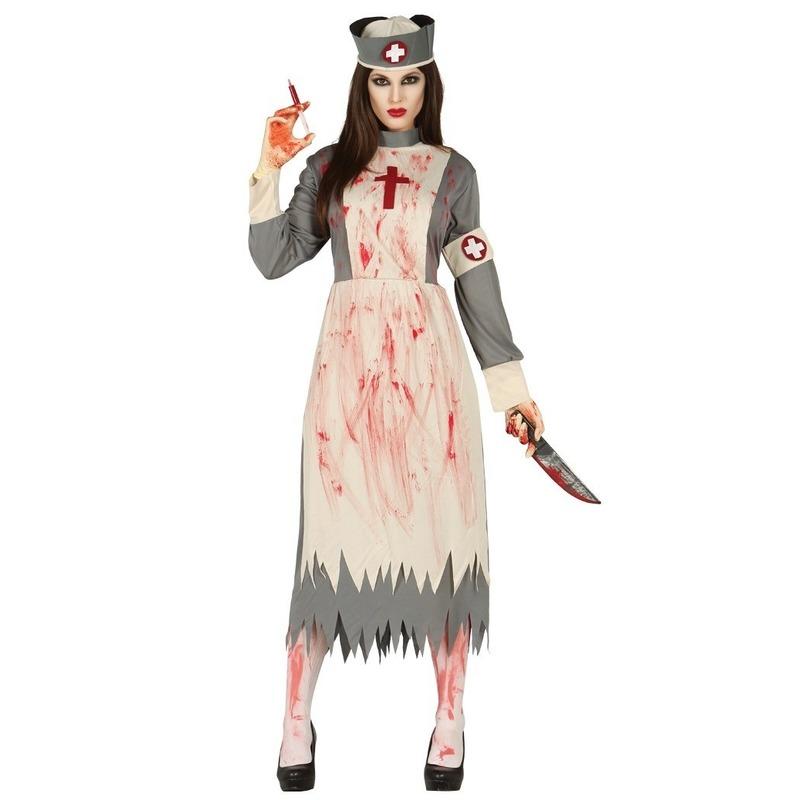 Horror verpleegster/zuster verkleed kostuum voor dames 42-44 (L/XL) -