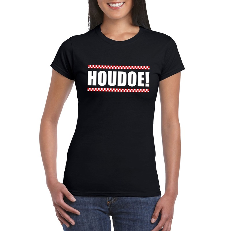 Houdoe dames T-shirt zwart