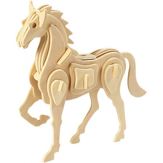 Houten 3D puzzel paard