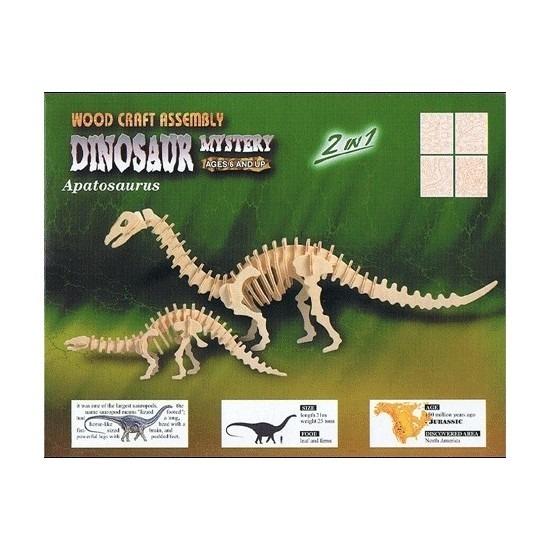Houten bouwpakket Apatosaurus Beige
