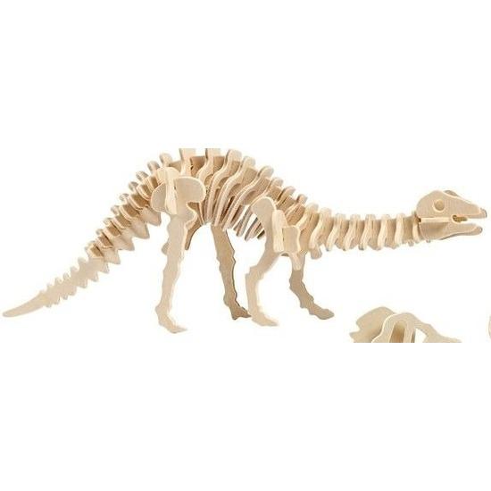 Houten bouwpakket Apatosaurus Bruin