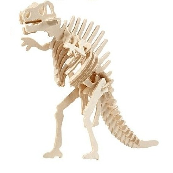 Houten bouwpakket Spinosaurus Bruin