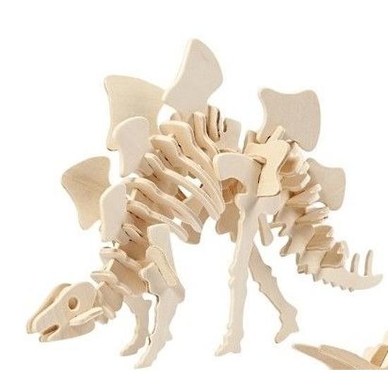 Houten bouwpakket Stegosaurus Bruin