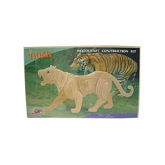 Houten bouwpakket tijger - 3D puzzels