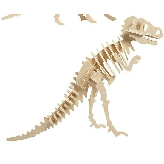 Houten bouwpakket Tyrannosaurus Bruin