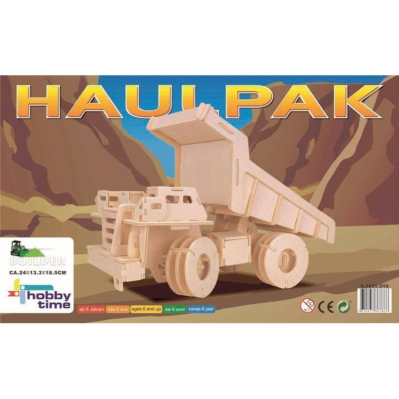 Houten bouwpakket vrachtwagen 95 stukjes -