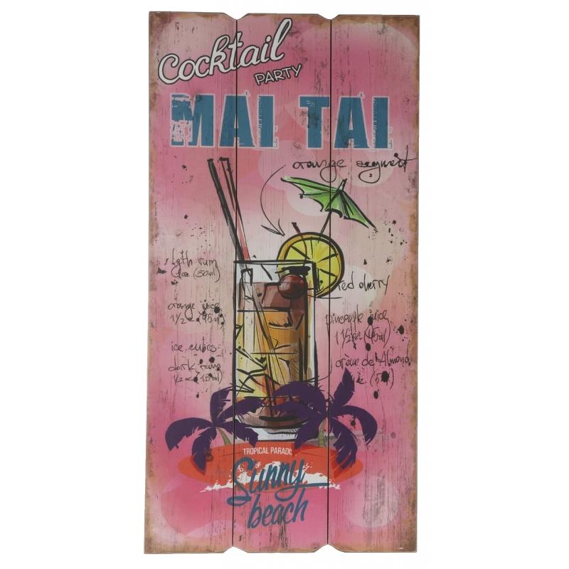 Houten wandbordje Mai Tai