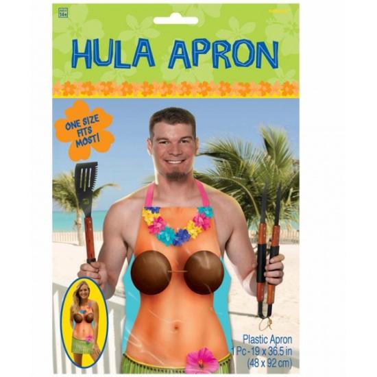 Hula schort met tropische dame -