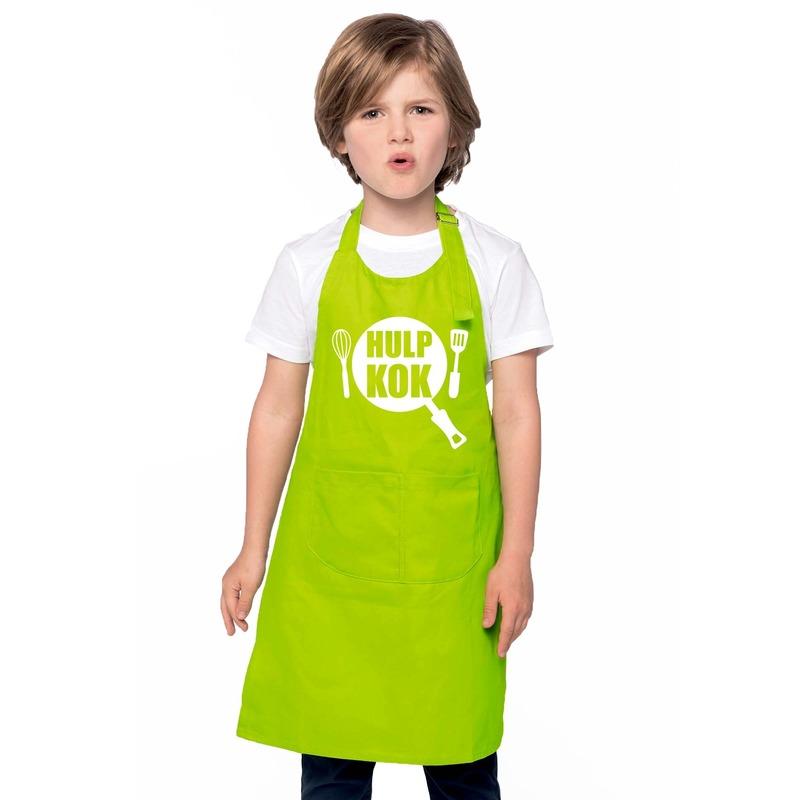 Hulpkok keukenschort lime groen kinderen